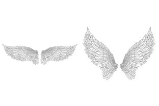 Print on Demand: 20 Feather Angel Wings Illustrustrations Graphic Illustrations By squeebcreative 8