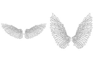 Print on Demand: 20 Feather Angel Wings Illustrustrations Graphic Illustrations By squeebcreative 9