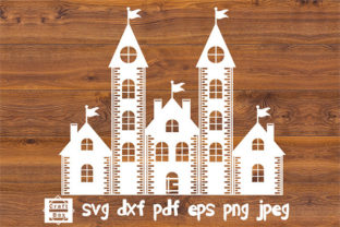 Print on Demand: Christmas Castle Svg Graphic Crafts By Craft Box
