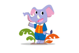 Cute Elephant Character Illustration Graphic Illustrations By Role Graphic