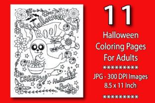 Halloween Coloring Book for Adults Graphic KDP Interiors By eliteasia