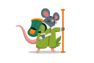 Mouse Character Wants to Go Camping Graphic Illustrations By Role Graphic