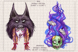 Watercolor Zombie Pop Illustrations Set Graphic Illustrations By Dapper Dudell 2