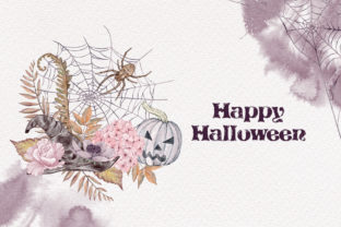 Print on Demand: Halloween Cards Pumpkins Fall Flowers Graphic Illustrations By PawStudio 10