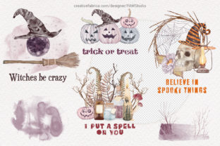 Print on Demand: Halloween Cards Pumpkins Fall Flowers Graphic Illustrations By PawStudio 2