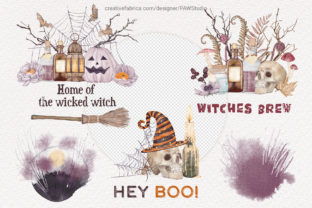 Print on Demand: Halloween Cards Pumpkins Fall Flowers Graphic Illustrations By PawStudio 3