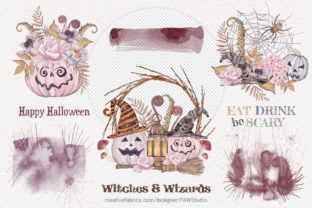 Print on Demand: Halloween Cards Pumpkins Fall Flowers Graphic Illustrations By PawStudio 4