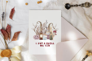 Print on Demand: Halloween Cards Pumpkins Fall Flowers Graphic Illustrations By PawStudio 5