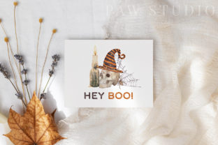Print on Demand: Halloween Cards Pumpkins Fall Flowers Graphic Illustrations By PawStudio 6