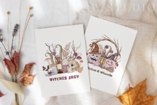 Print on Demand: Halloween Cards Pumpkins Fall Flowers Graphic Illustrations By PawStudio 7