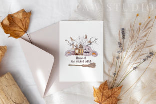 Print on Demand: Halloween Cards Pumpkins Fall Flowers Graphic Illustrations By PawStudio 8