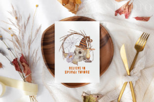 Print on Demand: Halloween Cards Pumpkins Fall Flowers Graphic Illustrations By PawStudio 9