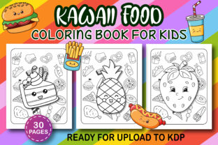 Print on Demand: Kawaii Food Coloring Book for Kids Graphic Libros para colorear - Niños By Kids_Zone 2