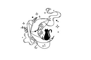 Cats, Moons and Crystals Halloween Craft Cut File By Creative Fabrica Crafts 2
