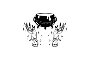 Witch Hand with Cauldron Halloween Craft Cut File By Creative Fabrica Crafts 2
