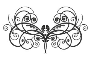 Print on Demand: Art Deco Abstract Butterfly Bugs & Insects Embroidery Design By The American Seamstress