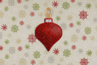 Christmas Ornament Feltie ITH Christmas Embroidery Design By DesignedByGeeks