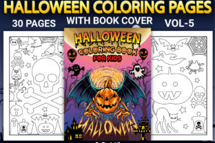 Print on Demand: Halloween Coloring Pages Vol-5 Graphic Coloring Pages & Books Kids By Simran Store