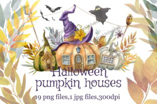 Print on Demand: Halloween Watercolor Pumpkins Graphic Illustrations By Marine Universe