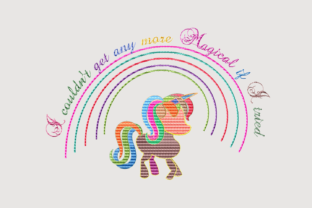 Print on Demand: I Couldn't Get Any More Magical Animal Quotes Embroidery Design By setiyadissi