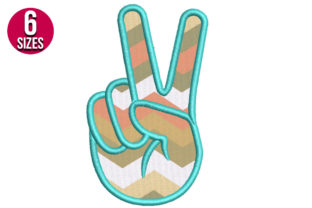 Print on Demand: Peace Sign Applique Teenagers Embroidery Design By Nations Embroidery