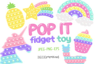 Print on Demand: Pop It Fidget Toy Clipart Graphic Illustrations By DigitalPapers 1