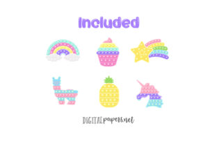 Print on Demand: Pop It Fidget Toy Clipart Graphic Illustrations By DigitalPapers 2