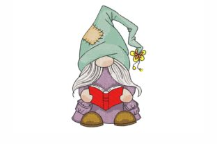 Reading Gnome Back to School Embroidery Design By NinoEmbroidery