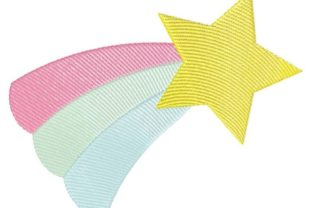 Shooting Star Sketch Nursery Embroidery Design By Thread Treasures Embroidery