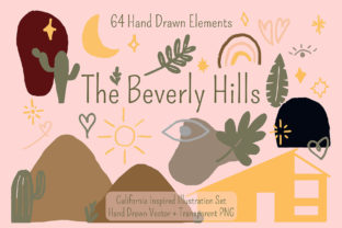 Print on Demand: The Beverly Hills Illustration Set Graphic Illustrations By Dustfinger