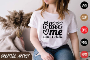 Print on Demand: I Love Me Graphic Print Templates By Creative_Artist
