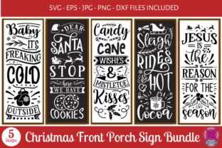 Christmas Front Porch Sign Bundle Graphic Crafts By Rumi Designed