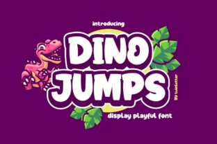 Print on Demand: Dino Jumps Display Font By twinletter