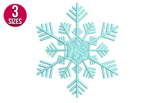 Print on Demand: Snowflake Winter Embroidery Design By nationsembroidery