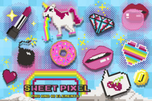 Sweet Pixel Art Clipart Collection Graphic Illustrations By Dapper Dudell