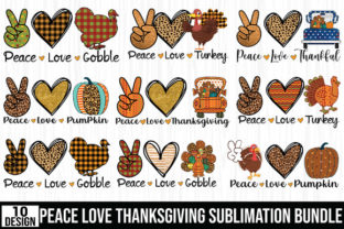 Print on Demand: Peace Love Sublimation Bundle Graphic Crafts By ABStore