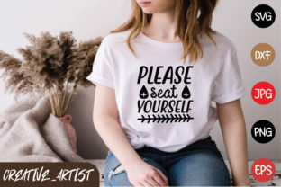 Print on Demand: Please Seat Yourself Graphic Print Templates By Creative_Artist