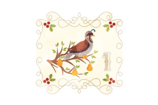 Partridge in a Pear Tree Christmas Craft Cut File By Creative Fabrica Crafts