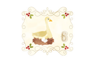 Six Geese a-laying Christmas Craft Cut File By Creative Fabrica Crafts