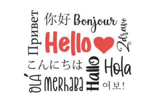 Hello in Different Languages Subway Art Craft Cut File By Creative Fabrica Crafts