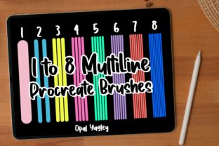 Print on Demand: 8 MultiLine Procreate Brushes Graphic Brushes By opal.yagley