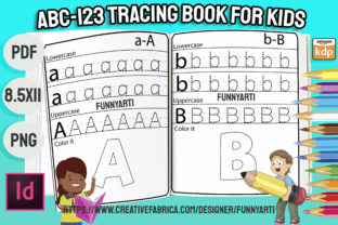 Print on Demand: ABC 123 Handwriting Tracing Book Graphic Teaching Materials By Funnyarti
