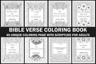 Bible Verse Coloring Book Graphic Coloring Pages & Books Adults By Creative Design Studio