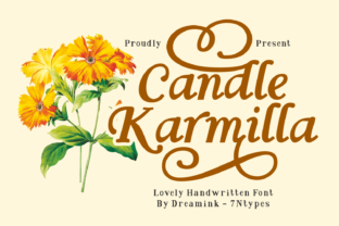 Print on Demand: Candle Karmilla Display Font By Dreamink (7ntypes)