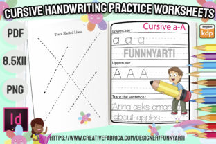 Print on Demand: Cursive Handwriting Practice Worksheets Graphic Teaching Materials By Funnyarti
