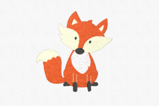 Fox Woodland Animals Embroidery Design By Scrappy Remnants