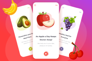 Fruit Delivery App (Screen Onboarding) Graphic UX and UI Kits By attiqanaz603