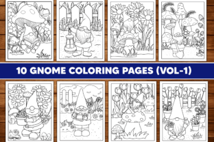 Garden Gnome Coloring Page for Adults Graphic Coloring Pages & Books Adults By Sassyart66