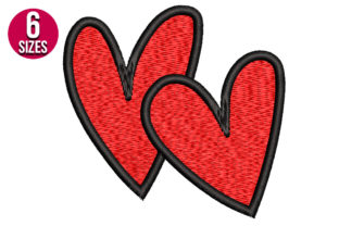 Print on Demand: Hearts Valentine's Day Embroidery Design By nationsembroidery
