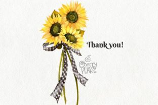 Print on Demand: Watercolor Fall Sunflower, Rustic PNG Graphic Illustrations By CherrypearStudio 9